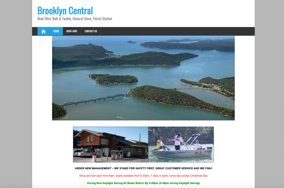 Old Website Screenshot of Brooklyn Central